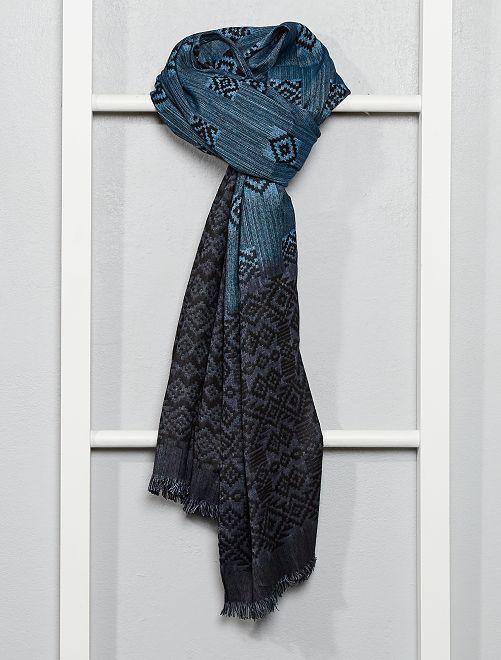 Foulard motivo ikat                             blu