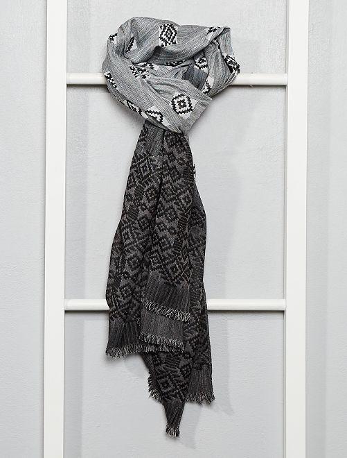 Foulard motivo ikat                                         grigio
