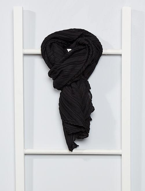 Foulard plissettato                                                                             nero
