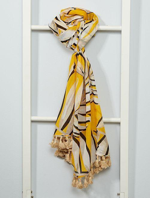 Foulard stampa 'foglie'                                         giallo
