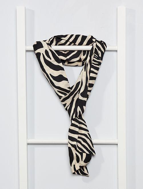 Foulard stampato zebra                             zebra