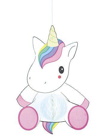 Ghirlanda unicorno alveolata - Kiabi
