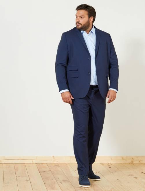 Giacca abito caviale regular BLU Taglie forti uomo