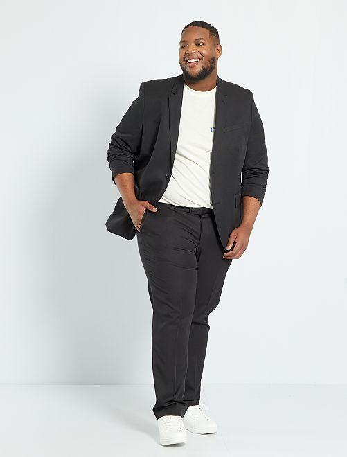 Giacca abito comfort tinta unita                             nero