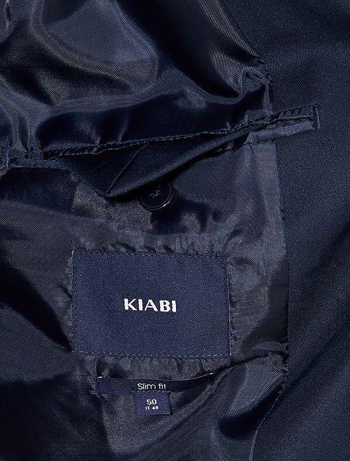 3f2355f0d583 Giacca abito taglio aderente Uomo - BLU - Kiabi - 35