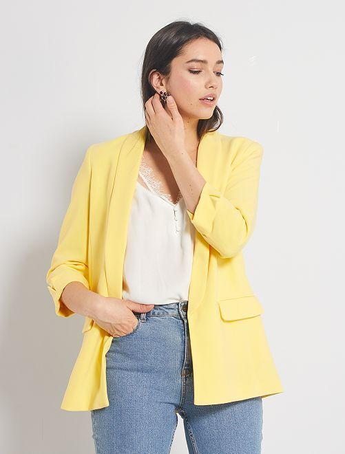Giacca blazer collo dritto                                                                                                                                                     giallo