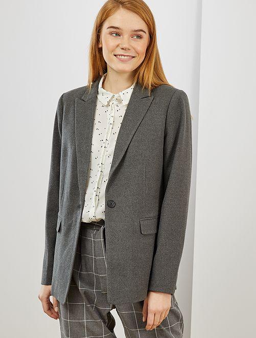 Giacca blazer                                             grigio screziato