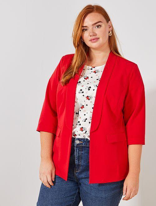 Giacca blazer senza bottoni                                                                 rosso