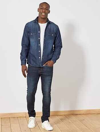 Giacca camicia regular denim - Kiabi