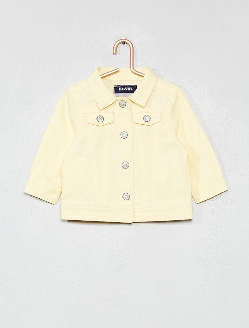 Giacca cotone abbottonata                                         giallo Neonata