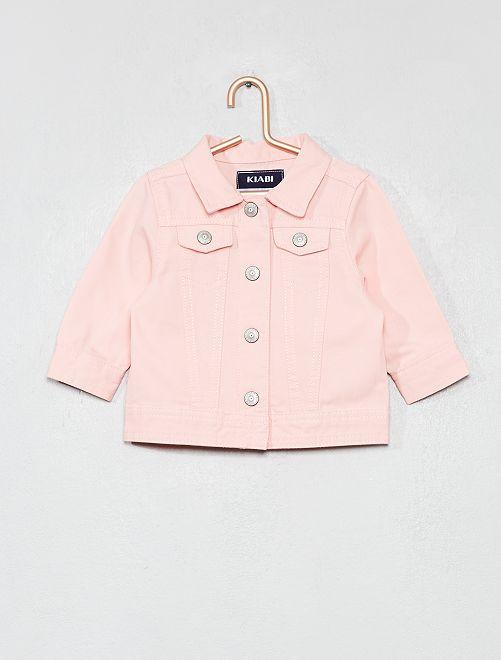 Giacca cotone abbottonata                                         rosa Neonata