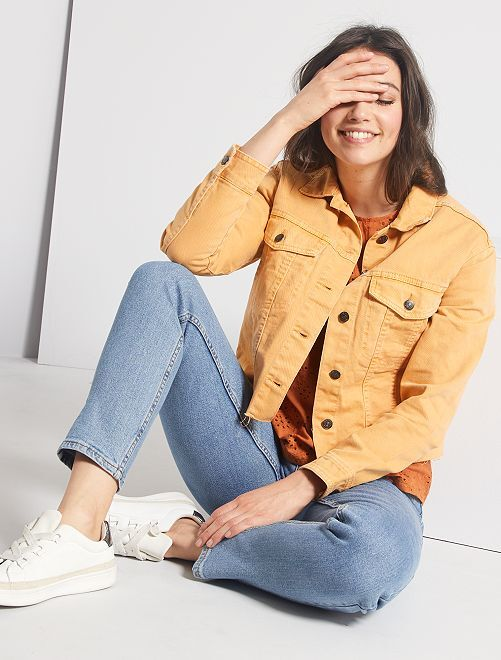 Giacca di jeans cropped                                                     GIALLO