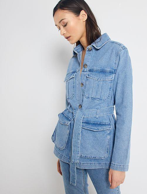 Giacca di jeans stile militare                                                                 stone