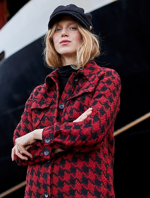 Giacca in tweed                             ROSSO