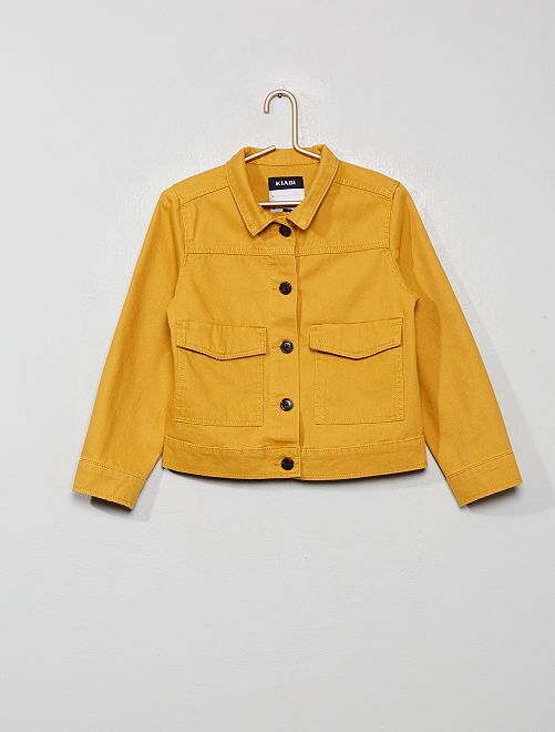 Giacca in twill tasche larghe                                                                             GIALLO