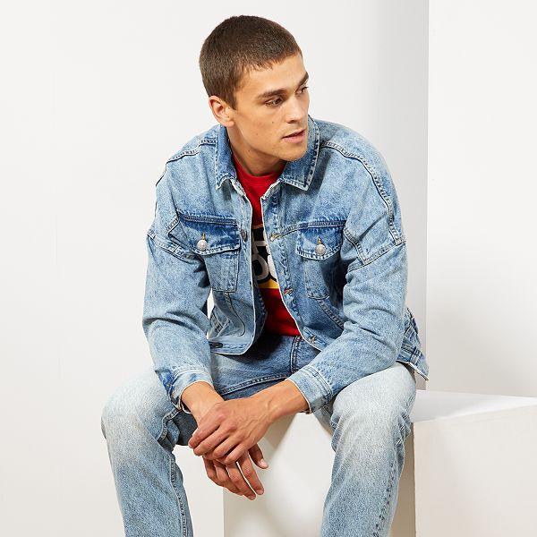 various colors a6cc3 f534e Giacca jeans oversize Uomo - BLU - Kiabi - 25,00€