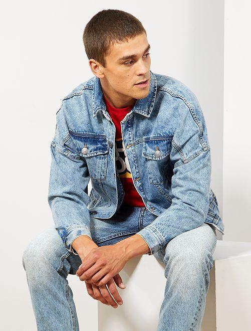 Giacca jeans oversize                                         BLU Uomo