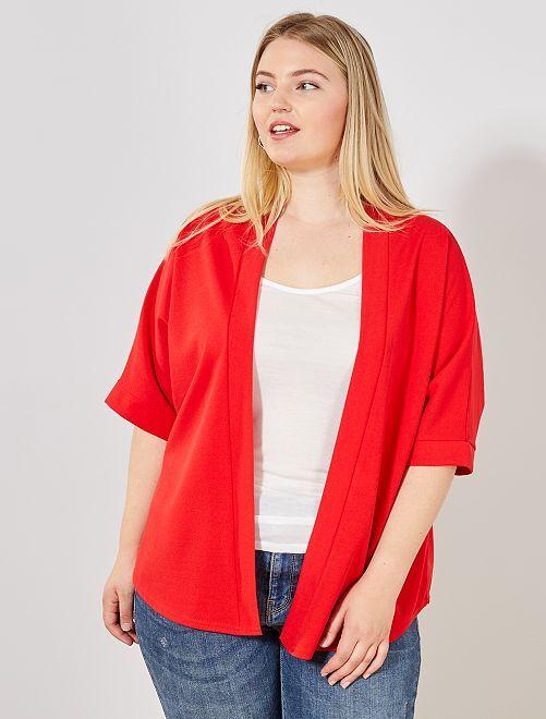 Giacca taglio kimono                     rosso Taglie forti donna