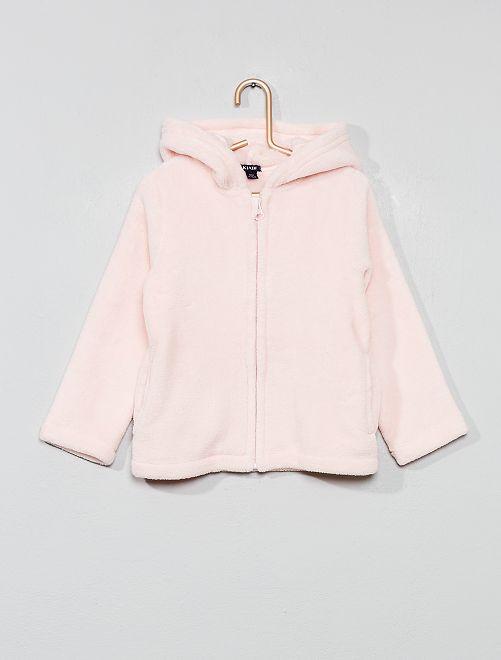 Giacca vestaglia pile                                         rosa pallido