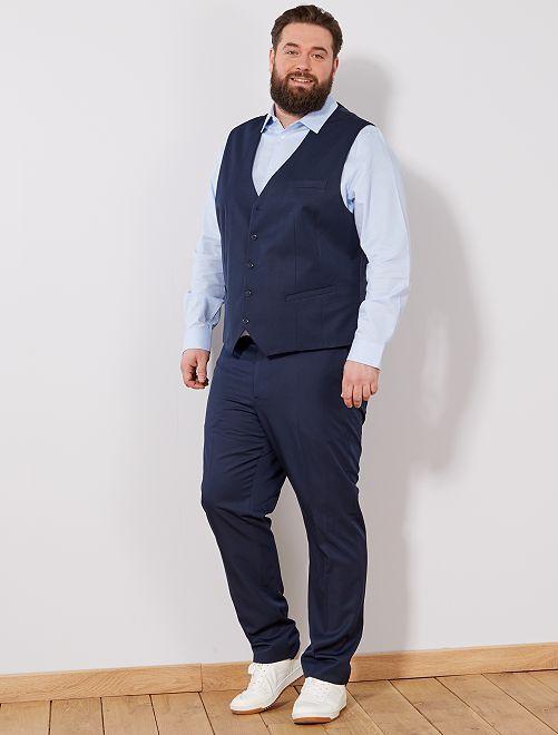 Gilet abito                                         blu Taglie forti uomo
