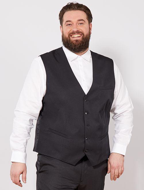 Gilet abito                                         nero Taglie forti uomo