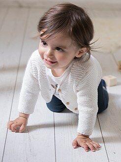 Bambina 0-36 mesi Golfino abbottonato punto legaccio