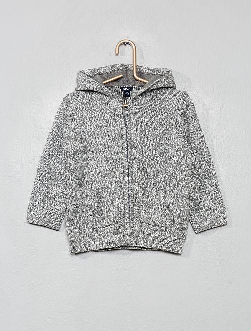 Golfino cappuccio cotone                                                     grigio