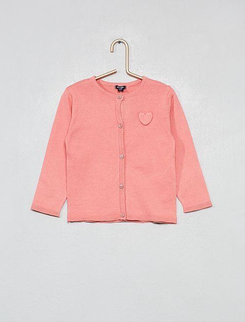 Golfino cuore ricamato                                                                             rosa Neonata