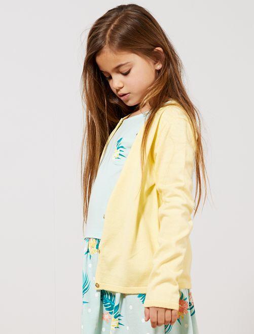 Golfino maglina                                                                                                                             giallo pastello Infanzia bambina