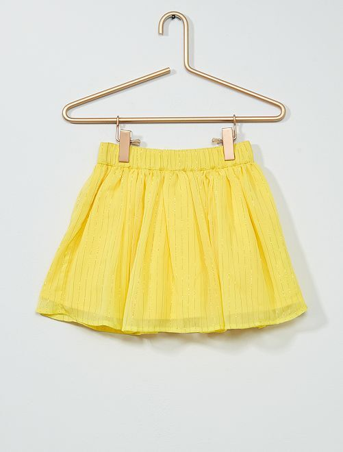 Gonna corta in tulle con fili dorati                             GIALLO