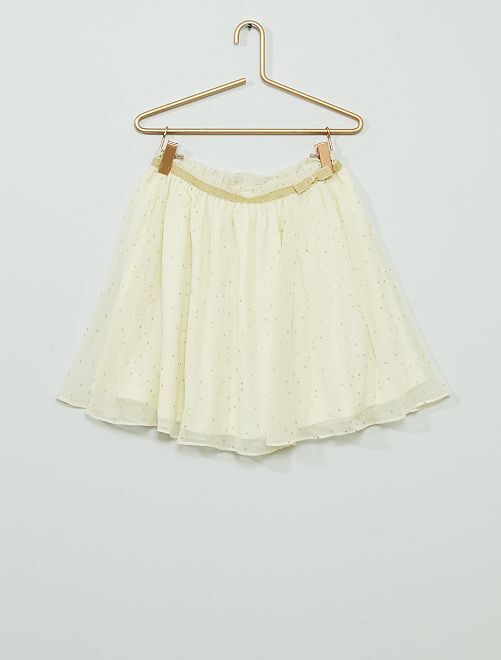Gonna in tulle                             BEIGE