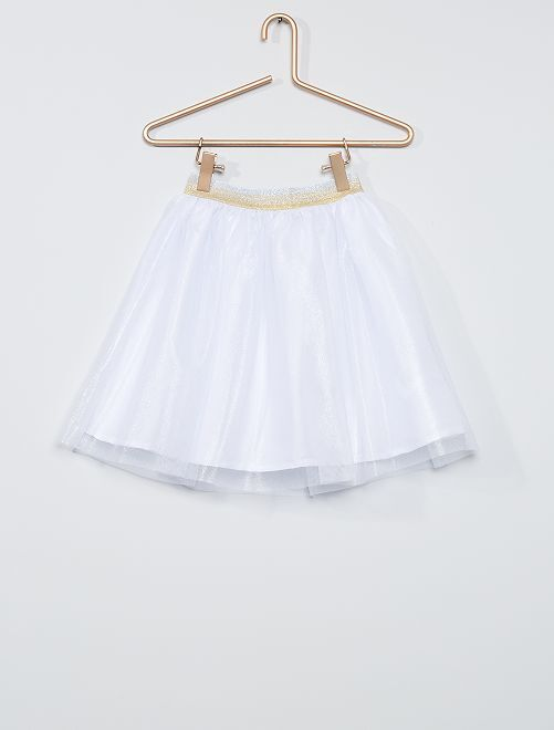 Gonna in tulle                             BIANCO
