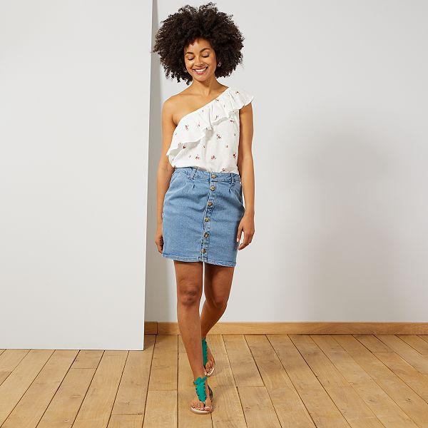 size 40 eaf87 649a5 Gonna jeans abbottonata 'Eco-design'