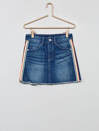 Gonna jeans con strisce - Kiabi