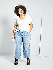 NUOVA linea donna taglio a gamba larga blu accanto Jeans Taglia 10 RRP £ 26