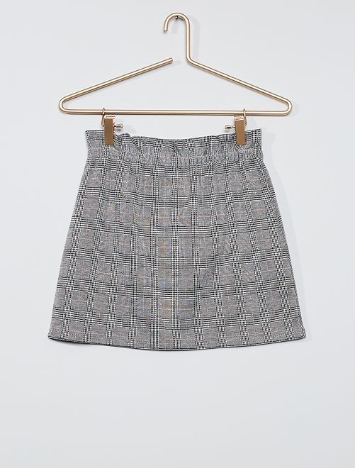 Gonna paperbag in maglia                             grigio