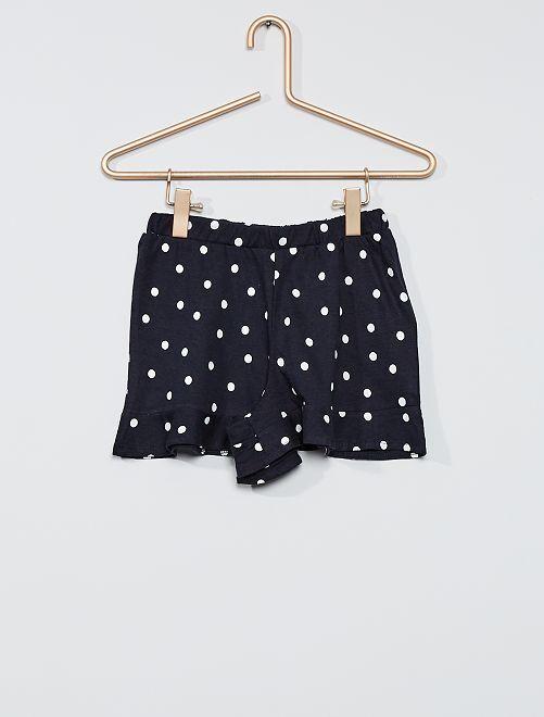 Gonna shorts stampata                                                                 BLU