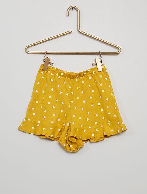 Gonna shorts stampata                                                                             GIALLO