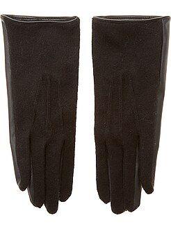 Sciarpe, guanti, berretti - Guanti bitessuto ecopelle e maglia morbida - Kiabi