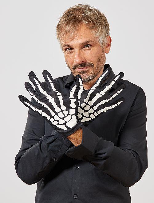 Guanti scheletro                             nero/bianco