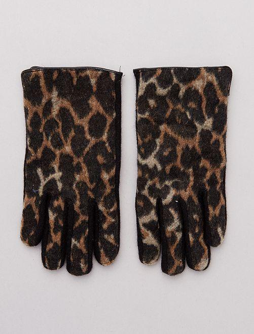 Guanti stampa leopardata                             BEIGE