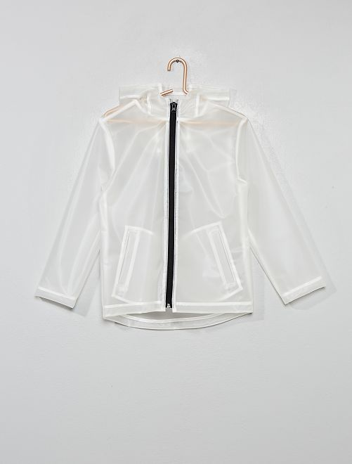 Impermeabile trasparente                             bianco
