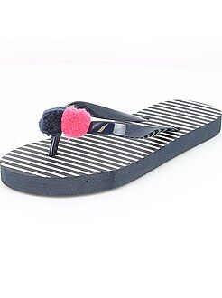Scarpe ragazza - Infradito con pompon - Kiabi
