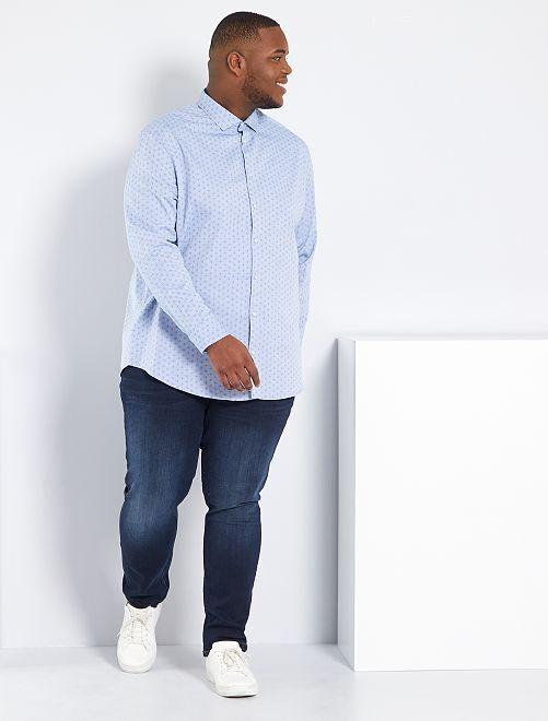 Jeans aderenti in cotone stretch L32                                                                             blu indaco