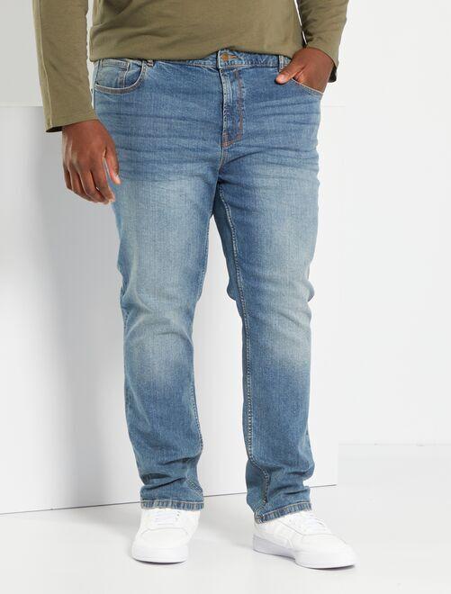 Jeans aderenti in cotone stretch L32                                                                             BLU