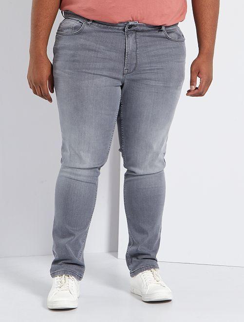 Jeans aderenti in cotone stretch L32                                                                             GRIGIO