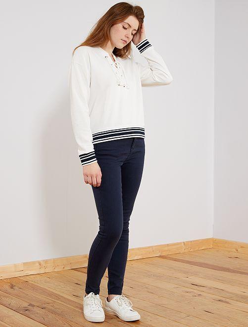 Jeans colorati skinny 5 tasche effetto push up                             BLU Donna