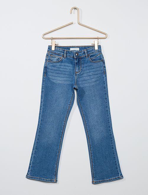 Jeans cropped eco-sostenibili                                                     BLU