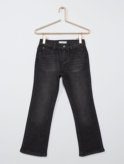 Jeans cropped eco-sostenibili                     NERO