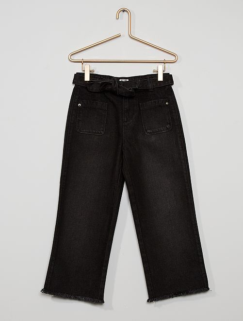 Jeans cropped eco-wash                                                                 NERO